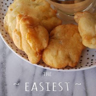 Easiest Apple Fritters Recipe + Caramel Dipping Sauce