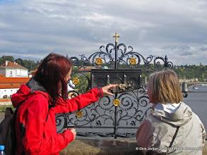 Photo: Katka Tells The Story of St. John of Nepomuk, Charles Bridge, Prague