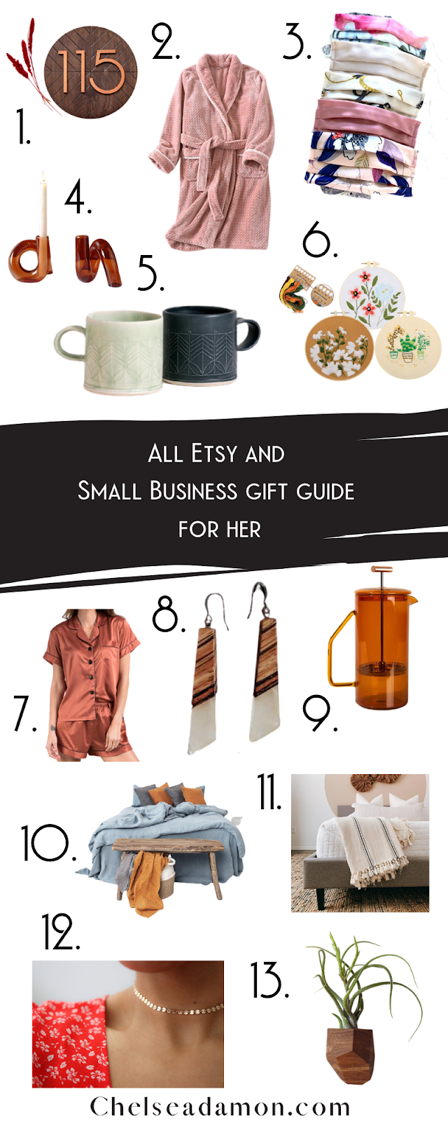 Etsy and Small Business Gift Guide for Her 2020