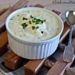 Greek Yogurt Vegetable Dip.