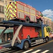Fire Truck Transporter Cargo Plane Simulator Games