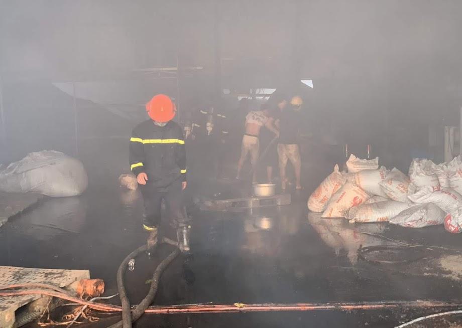 Phối hợp triển khai chữa cháy