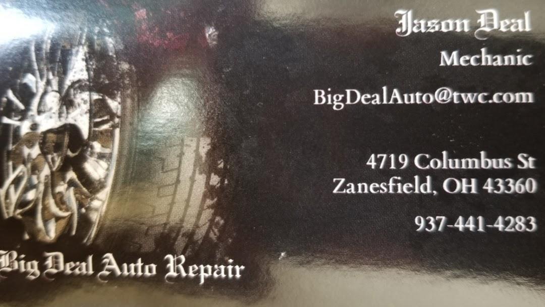 Big Deal Auto >> Big Deal Auto Auto Repair Shop In Zanesfield