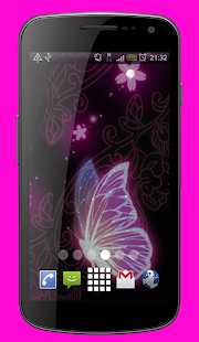 Butterfly Sparkles Live Wallpaper Theme - náhled