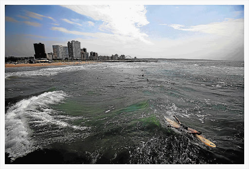 FAVOURITE PLAYGROUND: The Durban beachfront. Hotels are burning with domestic tourists