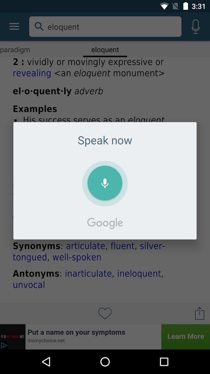 Dictionary - Merriam-Webster Android 4