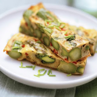 Herb and Asparagus Egg Slice