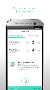 Taptopick - On-demand Laundry- screenshot thumbnail