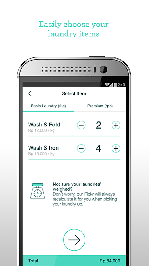 Taptopick - On-demand Laundry- screenshot