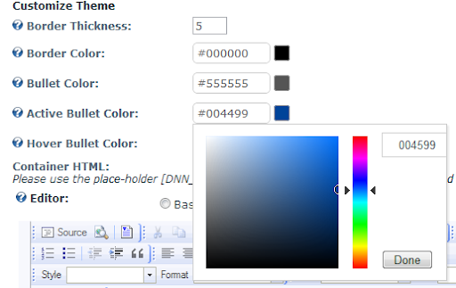 Module Settings with Color Picker
