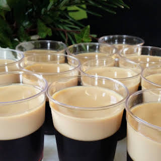 Baby Guinness Irish Coffee Jell-O Shots.
