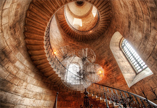 Photo: Spiralstorm  This beautiful staircase was found in a small cloister while I was about to exit St. Paul's Cathedral in London.  I took some extra time while I was over there for the workshop to explore places like this.  There were only a few days extra, but I tried to make the most of it.  I got shut down a few times while in the proper part of the cathedral, but I did manage to get a few shots in.  As for this area, it was wide open and no one said anything.  I always feel more comfy when I am not rushed and have time to set everything up!  In this case, I used a 14-24 lens.  I get asked a lot if I use filters on my lens -- but I do not.  I don't even know if you can get a filter that fits this bulbous wide angle.  from the blog www.stuckincustoms.com