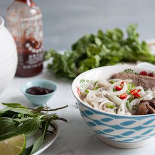 "Vietnamese Beef Noodle Soup (""Pho"")."