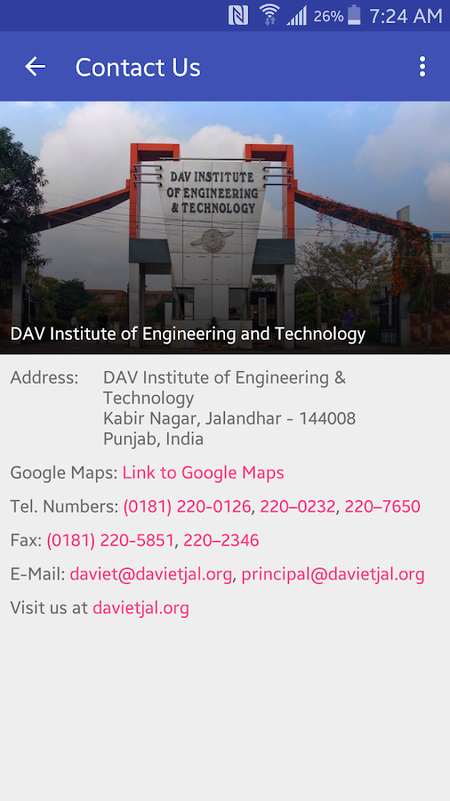 DAVIET News- screenshot