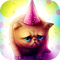 Birthday Cat : Cute Live wallpaper for Kids play icon