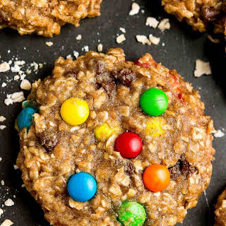 Healthy Banana Monster Cookies.