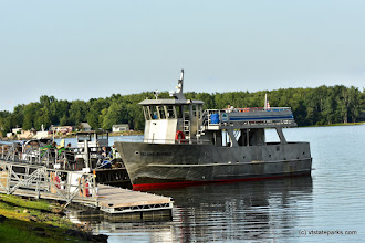 Photo: Docked for a few minutes the Island Runner Ferry from Burton Island State Park by Raven Schwan-Noble