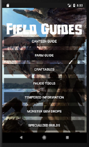 Field Guides for MHW 2.92 APK Mod for Android 2