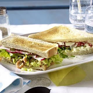 Shrimp and Avocado Sandwich.