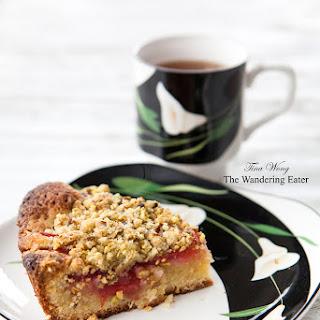 Pluot Pistachio Streusel Cake