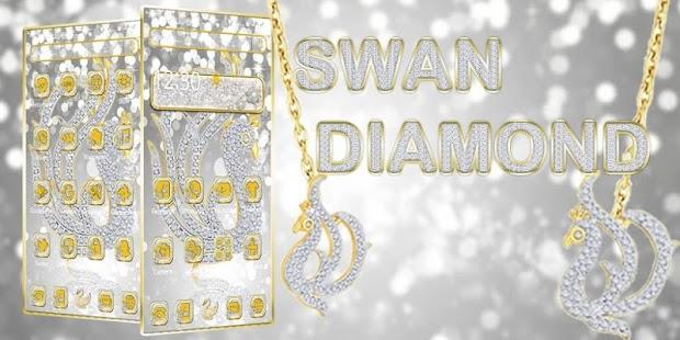 Diamond Swan Silver Theme - náhled