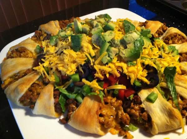 Crescent Roll Taco Bake Recipe