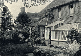 Photo: Nutwood Cottage, Godalming, Surrey. Wallace built this house and lived there between May 1881 and June 1889. Photographer: ? First published in Wallace's My Life (1905) and scanned from that publication. Copyright of scan: A. R. Wallace Memorial Fund & G. W. Beccaloni.