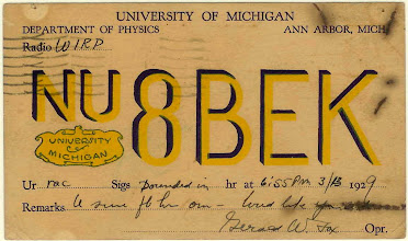 Photo: University of Michigan Radio Club 1929 M GO BLUE