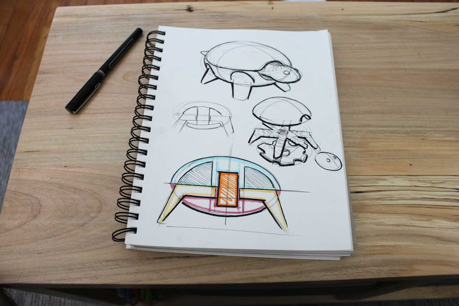 Hand Drawn Designs for the Squishy Turtle Toys