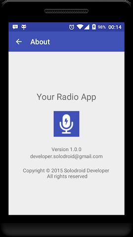 android Your Radio App Demo Screenshot 6