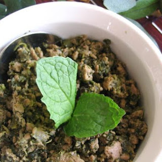 Ground Beef With Spinach and Mint