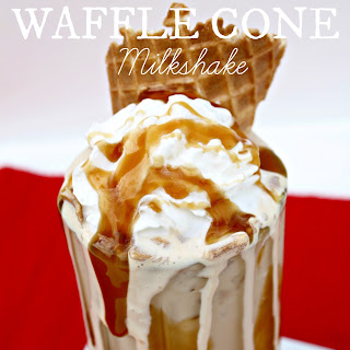 Caramel Waffle Cone Milkshake Recipe