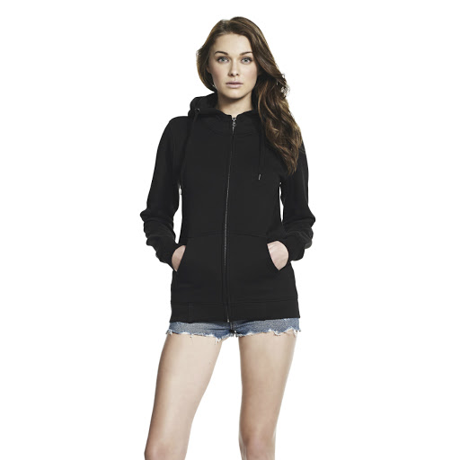 Ladies Continental Embroidered Hooded Sweatshirt