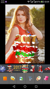 Christmas Photo Stickers maker screenshot 2