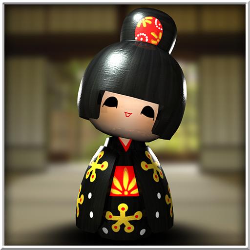 Japanese Geisha Doll 3D