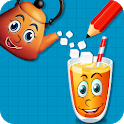 Smile Glass : Draw Lines Puzzle Classic icon