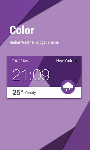 Material Design Weather Clock
