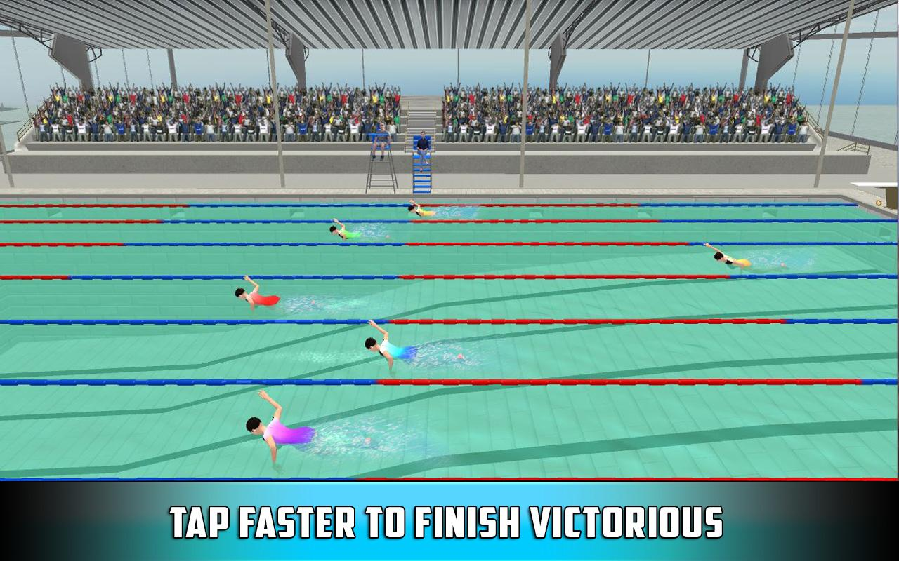 3d Swimming Pool Race Race Against Best Swimmers