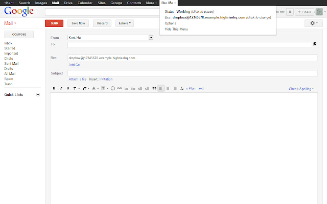 Bcc Me for Gmail™