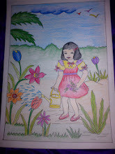 Photo: Siddhi-chan collection number 3, a girl watering flowers and seaweeds. 29th November updated - jp.asksiddhi.in/daily_detail.php?id=377