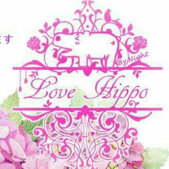 Love Hippo Hand Made