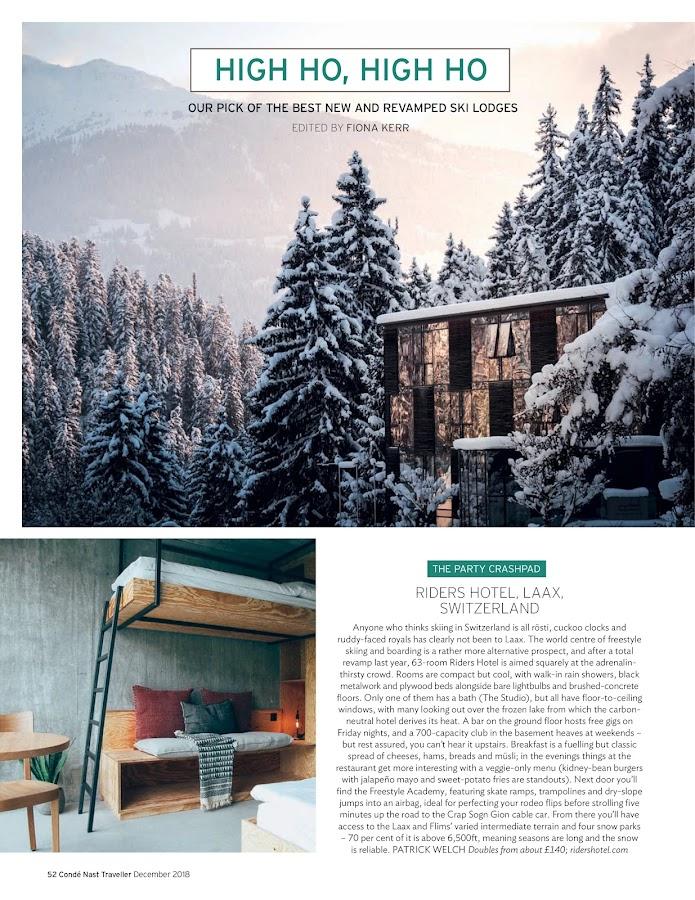 Condé Nast Traveller Magazine- screenshot