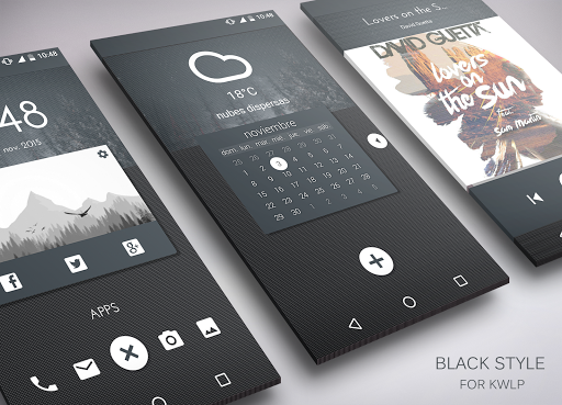 Black Style for KLWP
