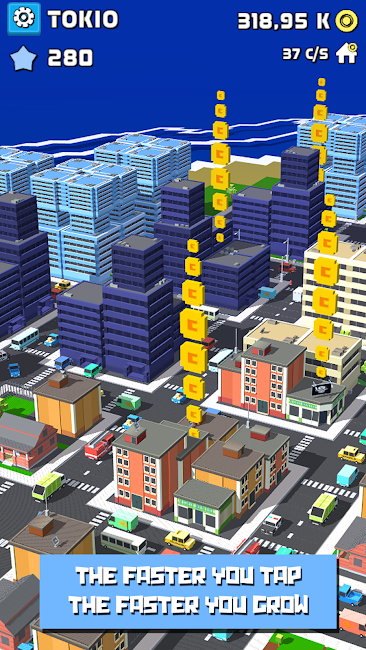 #5. Tap City: Building clicker (Android)