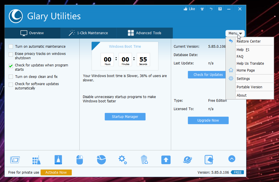 Restore your PC to peak performance with Glary Utilities Pro