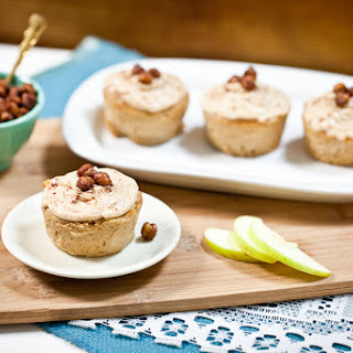 Apple Fritter Cupcakes with Sugar-Free Cinnamon Cream Cheese Frosting