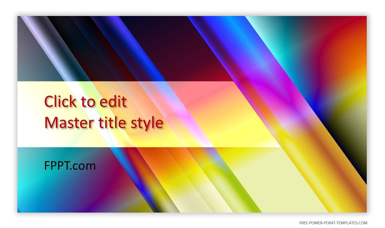 The main theme of this introduction slide is iridescent colors.