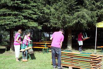 Photo: benches and tables are distributed across the terrain
