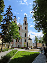 Photo: This is a common look for churches in Vilnius