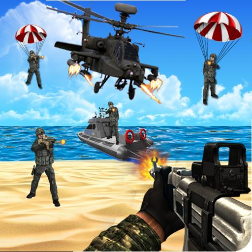 コマンドーのシューティング戦争ゲーム 動作 App LOGO-硬是要APP